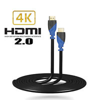 Lot 1.5FT-50FT 100% Genuine HDMI V2.0 Cable (4K 60Hz HDR UHD 4:4:4) - HDCP 2.2