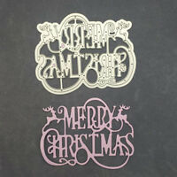 Metal Cutting Dies Stencil Scrapbook Album Paper Emboss Craft Buon Natale CRIT