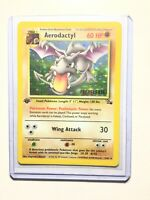 AERODACTYL 1/62 1st Edition GOLD STAMP Prerelease NEAR MINT Promo Pokemon Card