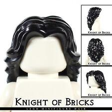 Lego Minifigure Hair BLACK 90396 Female Girl Mid-Length Wavy