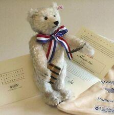 NEUF STEIFF rare Maatjes LTD ED Teddy Bear Mohair idéal cadeau de Noël 661082