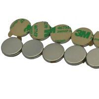 "Lot 50 100 1/2"" x 1/16"" Disc Magnets  Adhesive Backed Neodymium Rare Earth N48"