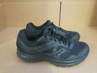 MENS SAUCONY GRID COHESION 10 BLACK RUNNING SHOES SIZE 8.5M A582