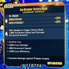 [PS4] Borderlands 3 - Ice Breaker Victory Rush Cryo Artifact (+Cryo Damage/Eff.)