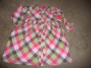 NEW NWT Gymboree girls size 7 Gorgeous Pony Club pink plaid flannel dress