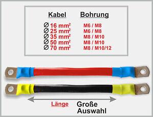 Batteriekabel Verlängerung H07V-K Kabelbrücke - rot schwarz Kabel Ø 16 - 70 mmq