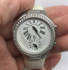 PHILIP STEIN TESLAR STAINLESS STEEL WATCH DUAL TIME WITH DIAMOND BEZEL (35MM)