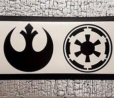 2x 10cm Star Wars Alleanza Ribelle IMPERO AUTO/MURO Decalcomania Adesivo Vinile