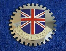 England English Union Jack Grille Badge License Plate Topper Accessory Mini Jag