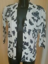 NEW F+F BUTTERFLY PRINT ACRYLIC BLEND CARDIGAN SIZE 8 rrp £16