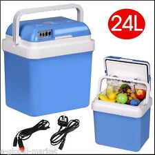 Mini Electric Fridge Portable CoolBox 12V Lighter Car Caravan Camping Cooler 24L