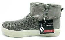 Skechers Youth Girl Ankle Boots Ringstone Zipped Gray US 3Y