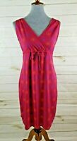 Old Navy Women's Size 4 Pink Geometric Print Sleeveless V-Neck Sheath Dress