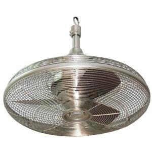 Ceiling Fan Brushed Nickel Indoor Outdoor Valdosta Patio Porch 20-in (3-Blade)