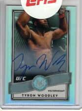 2017 Topps UFC Chrome Auto TYRON WOODLEY Museum Collection Refractor AUTOGRAPH/5