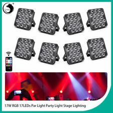 17 LEDs 8PCS Par Can Stage Light RGB Beam Disco Party Wedding Uplighting +Remote