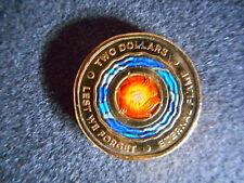 2018 Australia Lest We Forget - Eternal Flame $2 Coloured Coin unc