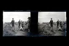 A la Plage Mode balnéaire France Plaque de verre stéréo négatif ca 1920