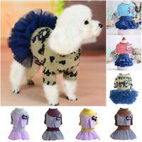 Small Dog Skirt Clothes Princess Tutu Dress Pet Puppy Warm Coat Apparel Costume