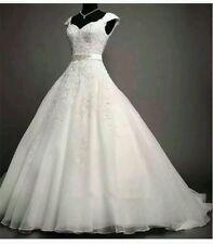 New 2015 White /Ivory Lace Wedding Dress Bridal Gown Size 6-18 UK