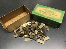 """Vintage Box contains 300+ 3/16"""" Duo-Fast Staples No. 506-D"""