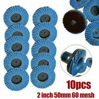 10 Stücke Fächerscheibe 50mm Korn 40 60 80 Schleifscheiben Fächerscheiben Blau