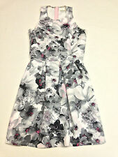 ABERCROMBIE Kids Girls Floral Stretch Dress Gray Pink Red Size XL