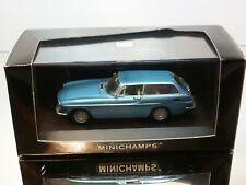 MINICHAMPS VOLVO P1800 ES 1971 - BLUE METALLIC 1:43 - MINT CONDITION IN BOX