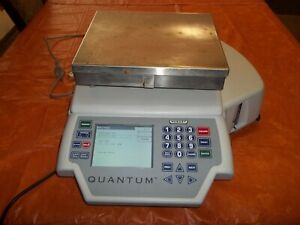 Hobart Quantum Commercial Scale With Printer - 29253-BJ - Preowned