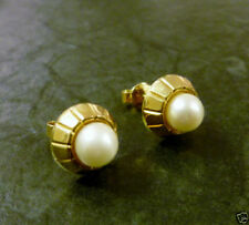 Perlen-Ohrschmuck im Ohrstecker-Stil mit echten Zucht Butterfly-Verschluss