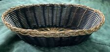 Winco Black & Gold Woven Oval Basket Collectible