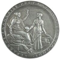 Egypt OPENING OF THE SUEZ CANAL silver 41mm thick flan by Roty