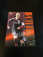 Michael Bradley Captains Orange Parallel 06/25 2015 Topps Apex MLS Major Soccer
