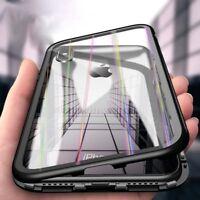 Für Apple iPhone X Magnet Case Hülle Rainbow Glas Adsorption Schutzhülle