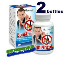 BoniAncol, 02 boxes, 120 capsules, Reduce Cravings Alcohol, Drug,Other Addictive