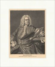 Georg Friedrich Haendel legno chiave compositore chiese musica coro Alleluia P 0012