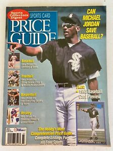 SPORTS COLLECTOR'S DIGEST PRICE GUIDE MICHAEL JORDAN COVER MARCH 1995