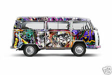 VW Kombi sprays art print star wars painting street COA authentic by andy baker