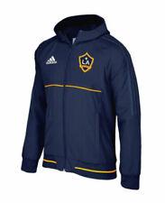 Los Angeles Galaxy Mens Adidas Anthem Full Zip Jacket Navy