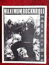 MAXIMUMROCKNROLL No.36 May 1986  Rare US Punk Fanzine,Slapshot,7 Seconds,KBD,Oi