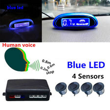 Car LED Parking Sensor+ 4 Sensors bule  LED display Reverse Radar System Alarm