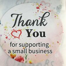 1500 Fancy Thank You For Supporting A Small Business 1 Sellers Labels Ty 3