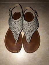 Xhiliration Beaded Jeweled Gladiator Sandals Size 8