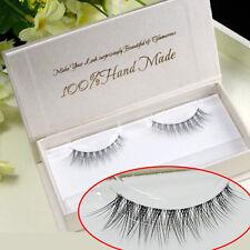 3D Luxurious Lifelike Handmade Makeup Slender Cross False Eyelashes Eye End Long