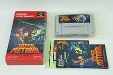 SUPER METROID SNES Nintendo Super Famicom Box From Japan