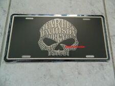 Harley-Davidson Schild/Blechschild - Scull write - skull write -  NEU !