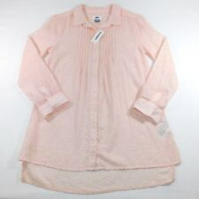 NWT Old Navy Womens 3/4 Sleeve Pleated Button Down Top, XL