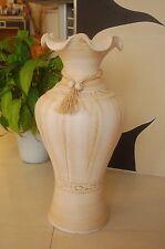 Edle 60 Cm Bodenvase Amphore Vase beige