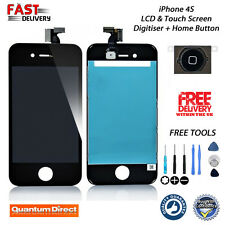 BLACK iPhone 4S LCD & Digitiser Touch Screen Assembly Replacement w/Tools NEW