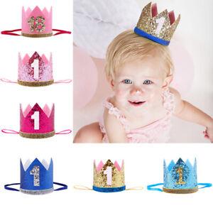 Baby Girl Boy 1st Birthday Party Crown Hat Headband Headwear Party Supplies 1PC